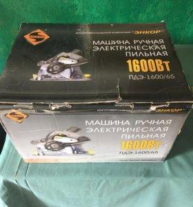 Энкор ПДЭ-1600/65 машина ручная пильная