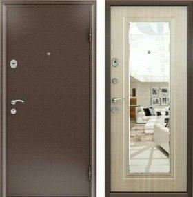 Дверь металлическая с зеркалом(Бульдорс)
