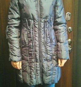 Куртка-пальто пуховик 44-46 раз.