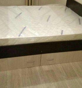 Кровать «Марс» с ящиками+ матрас в комплекте.
