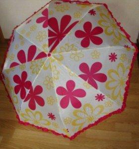 Зонтик с очаровательными рюшами