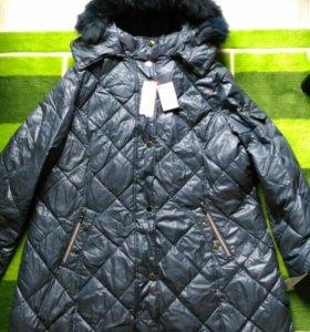 Женский пуховик-пальто