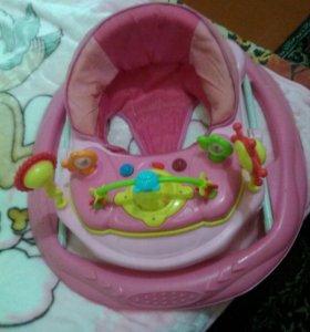 Кроватка детская,ходунки