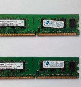 2Gb DDR2 800 Mhz hynix hymp125u64cp8-s6 ab