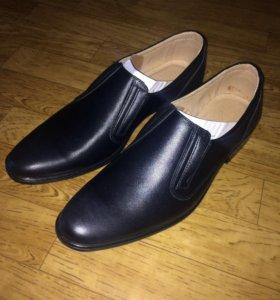 Кожаные туфли,новые!!!