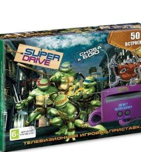 Приставка Sega Super DriveTurtiles 50 игр новая