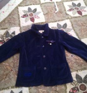 Пиджак, одежда  для девочки, бархат 122 р
