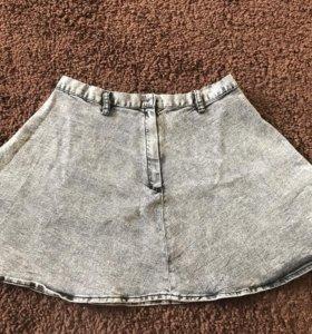 Юбка солнце  джинсовая ( M-L) новая H&M