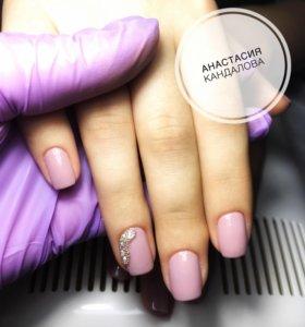 Маникюр, гель-лак, наращивание и коррекция ногтей
