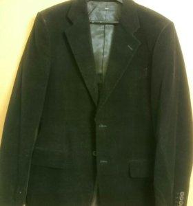 Мужской пиджак из микровельвета