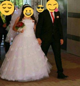 Свадебное платье+болеро+ туфли