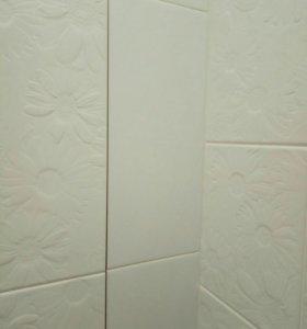Плитка настенная белая глянцевая