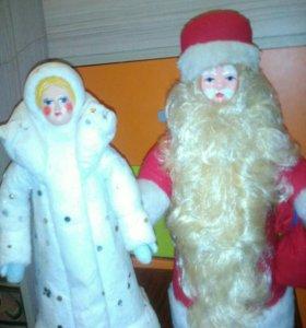 Дед мороз и снегурочка СССР цена за двоих