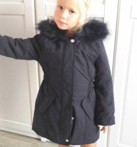 Пальто теплое. 6-7 лет.