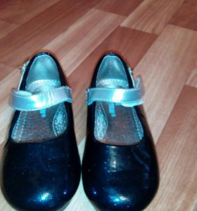 Туфли синие нарядные 24 размер