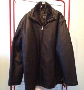 Новая кожаная куртка, зима