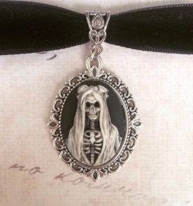 Чокер со скелетом для Хеллоуина