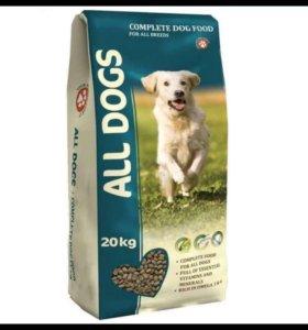 All dogs корм для взрослых собак 20 кг