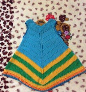 Вязаное платье для левочки