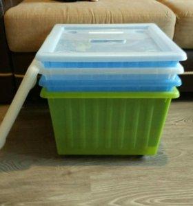 Ящик для игрушек Вессла Икея с крышкой