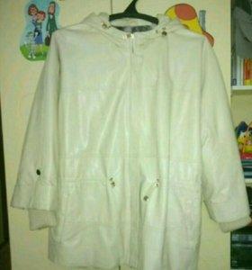 Куртка демисезонная  эко кожа 66 размер