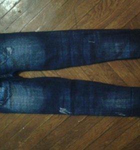 Бесшовные лосины новые(под джинс утеплен)