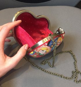 Сумка клатч сердце на цепочке