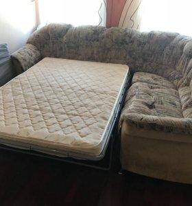 Угловой раскладной диван кровать