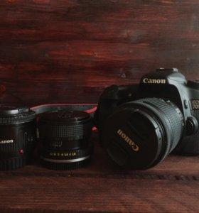Canon 70D 18-55 STM + 50mm f1.8 + Zenitar 28mm 2.8