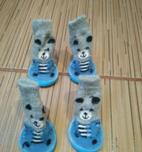 Носочки для собаки, с резиновой подошвой.