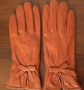 Кожаные перчатки НОВЫЕ демисезон