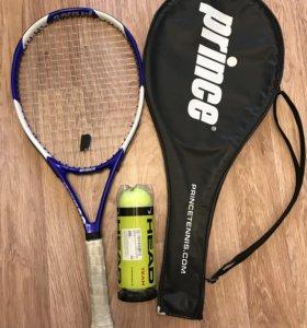 Теннисная ракетка 110 in2 и новые мячи
