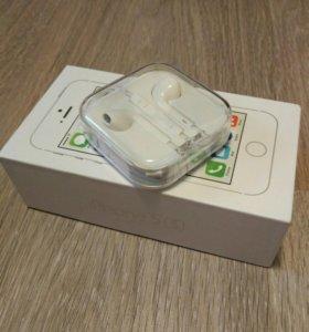 Наушники Apple EarPods, не распечатанные, новые