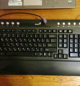 Полноразмерная мультимедиа клавиатура Genius PC/2