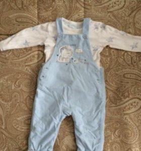 Костюм mothercare штанишки и боди 74 см