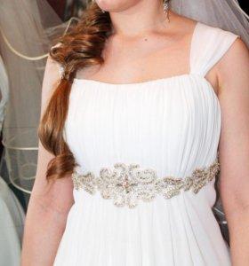 Платье в стиле ампир цвета айвори