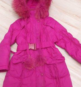 Зимнее пальто на рост 98 см.