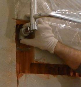 Установка полотенцесушителей