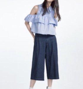 Блузка с рюшами Zara б/у