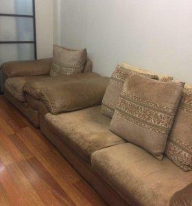 1 диван 2 кресла продаю срочно