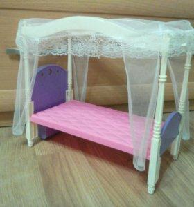 Кровать для куклы Барби