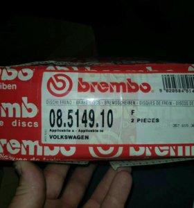 Тормозные диски brembo для фольксваген