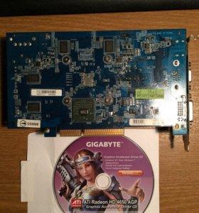 Видеокарта Gigabyte Radeon HD 4650 600Mhz AGP 1024
