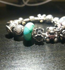 Браслет Pandora оригинал, кольца и серьги
