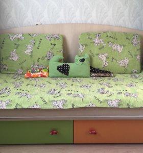 Кровать-софа детская+матрас