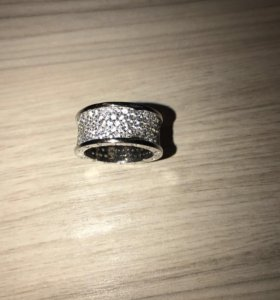 Кольцо bulgari серебро