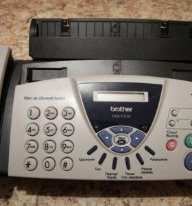 Новый факс Brother FAX-T104