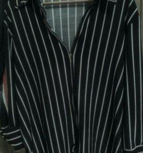 Модная блузка на молнии 58 р-р