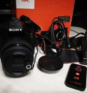 Sony Alpha SLT A77L + объектив