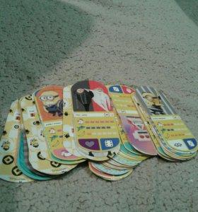 коллекция карточек миньонов
